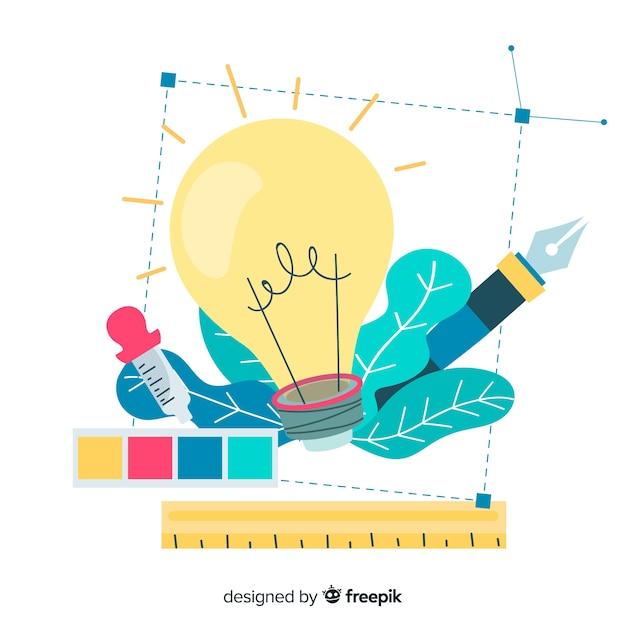 Illustrazione grafica idea di design Vettore Premium