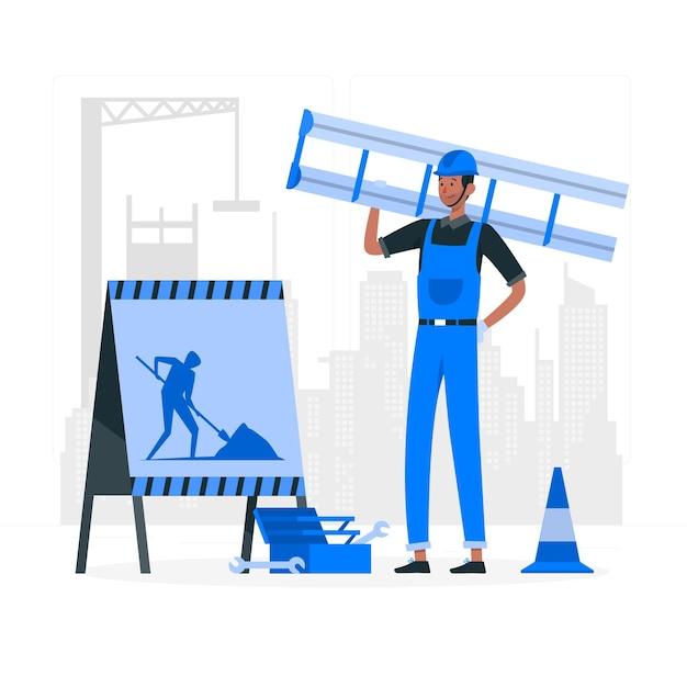 Illustrazione in costruzione di concetto Vettore gratuito