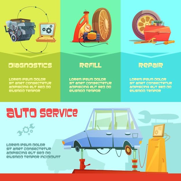 Illustrazione infographic di servizio auto Vettore gratuito
