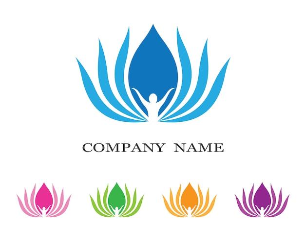 Illustrazione logo lotus Vettore Premium