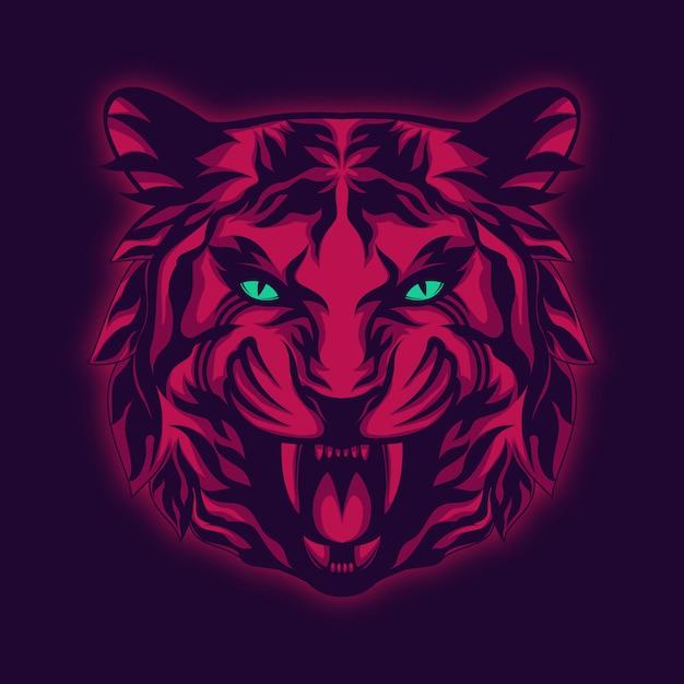 Illustrazione maestosa della tigre Vettore Premium