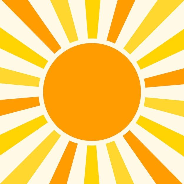 Illustrazione naturale di vettore del fondo soleggiato Vettore Premium