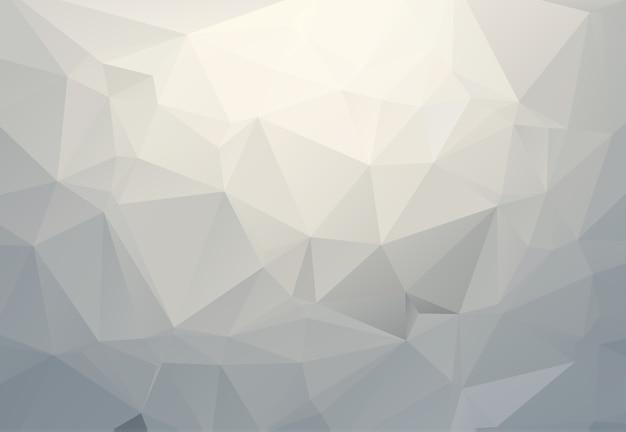 Illustrazione poligonale grigio bianco, che consistono in triangoli. sfondo geometrico in stile origami con sfumatura. design triangolare per il tuo business. Vettore Premium