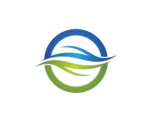 Illustrazione simbolo d'onda Vettore Premium