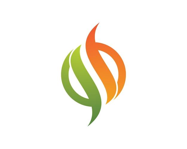 Illustrazione simbolo di fuoco Vettore Premium