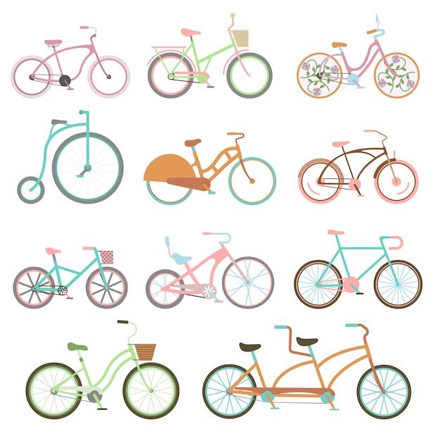 Illustrazione stabilita di vettore di trasporto della bici di guida stabilita d'annata della bici. Vettore Premium