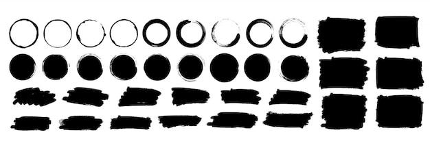 Illustrazione stabilita mega dei pennelli Vettore Premium