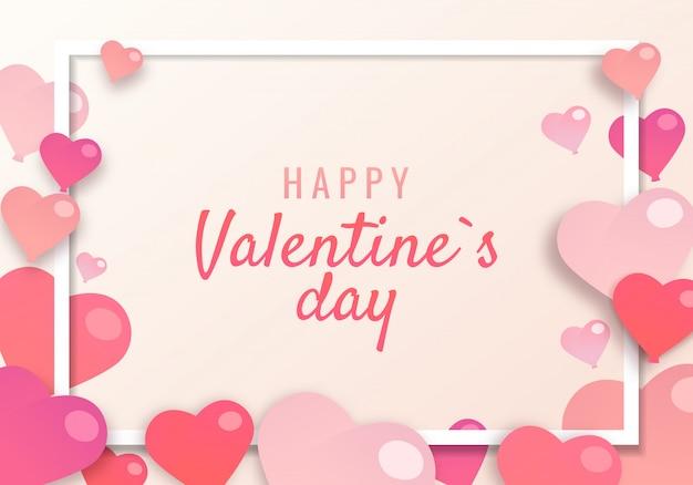 Illustrazione sul tema san valentino. Vettore Premium