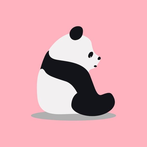 Illustrazione sveglia del fumetto del panda gigante selvaggio Vettore gratuito