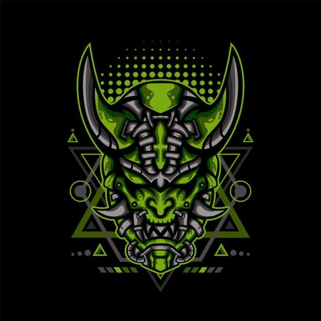 Illustrazione verde di under -eath sci-fi Vettore Premium
