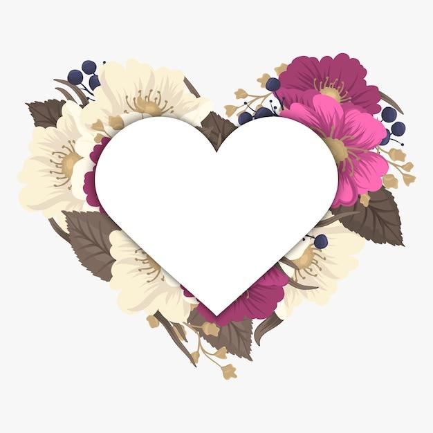 Illustrazione vettoriale con un cuore. perfetto per san valentino, compleanno, salva l'invito alla data Vettore gratuito