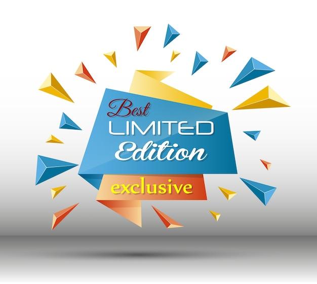 Illustrazione vettoriale del modello esclusivo in edizione limitata Vettore Premium