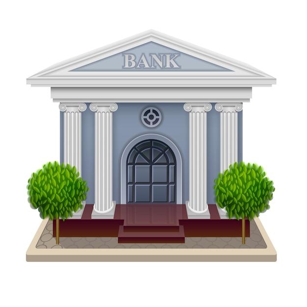 Illustrazione vettoriale della banca Vettore Premium