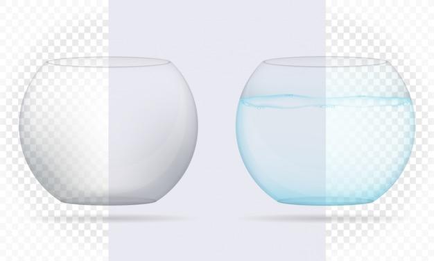 Illustrazione vettoriale di acquario trasparente Vettore Premium
