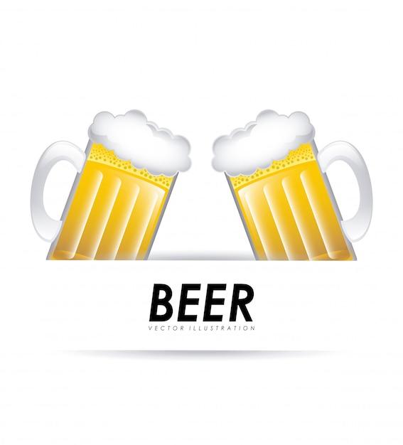 Illustrazione vettoriale di birra graphic design Vettore gratuito