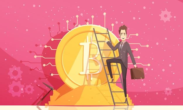 Illustrazione vettoriale di bitcoin Vettore gratuito
