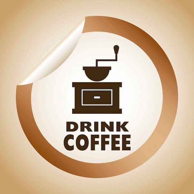 Illustrazione vettoriale di caffè graphic design Vettore gratuito