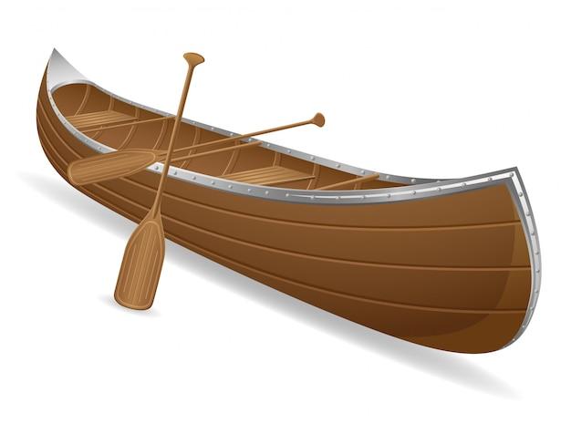 Illustrazione vettoriale di canoa Vettore Premium