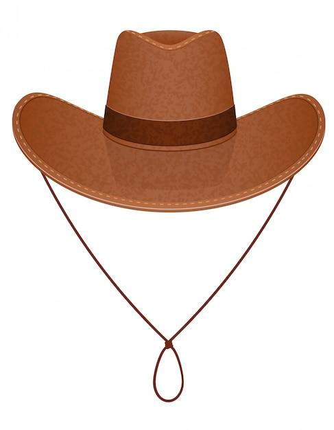 Illustrazione vettoriale di cappello da cowboy Vettore Premium