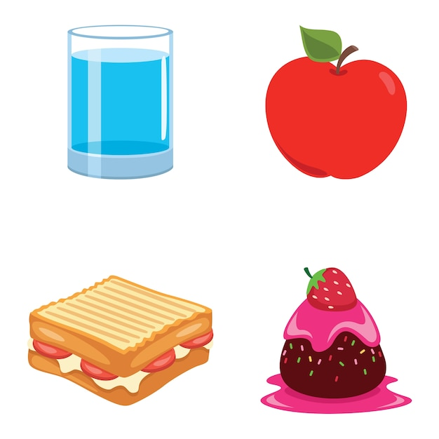 Illustrazione vettoriale di cibo Vettore Premium
