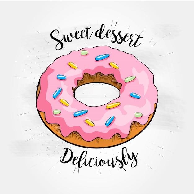 Illustrazione vettoriale di dessert dolce Vettore Premium