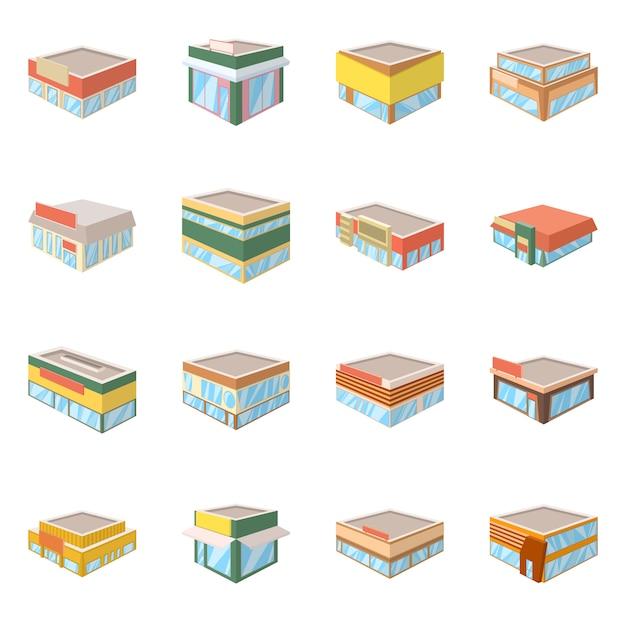 Illustrazione vettoriale di e icona di costruzione. collezione di e set di affari Vettore Premium