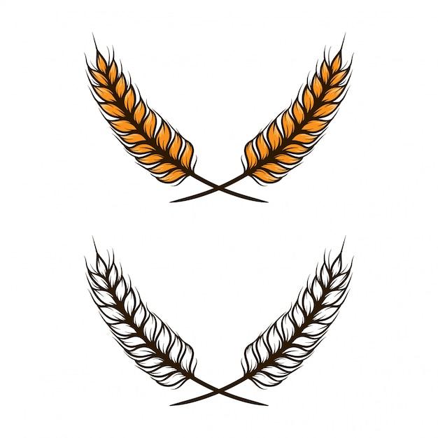 Illustrazione vettoriale di grano Vettore Premium