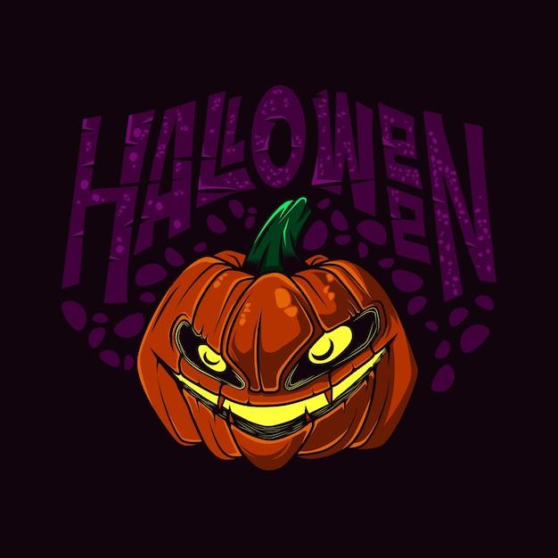 Illustrazione vettoriale di halloween pumpkin Vettore Premium