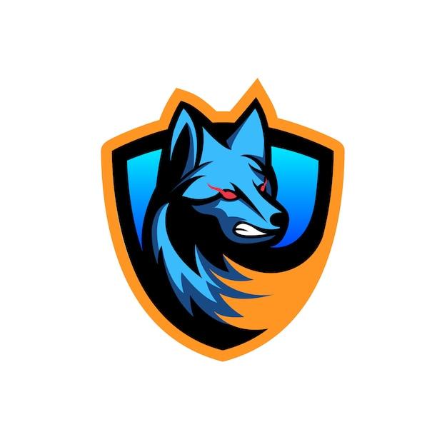 Illustrazione vettoriale di lupi spaventosi Vettore Premium