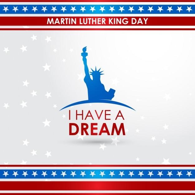Illustrazione vettoriale di martin luther king day sfondo Vettore gratuito