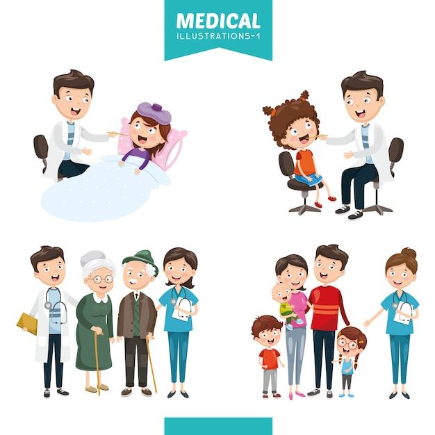 Illustrazione vettoriale di medica Vettore Premium