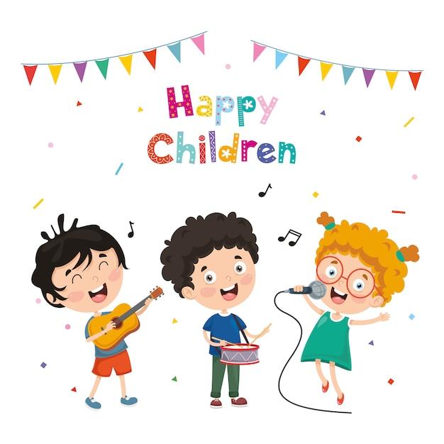 Illustrazione Vettoriale Di Musica Per Bambini Scaricare Vettori