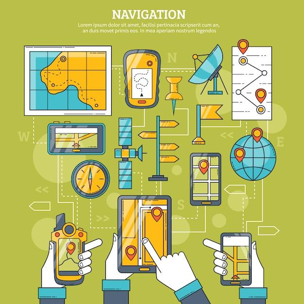 Illustrazione vettoriale di navigazione Vettore gratuito