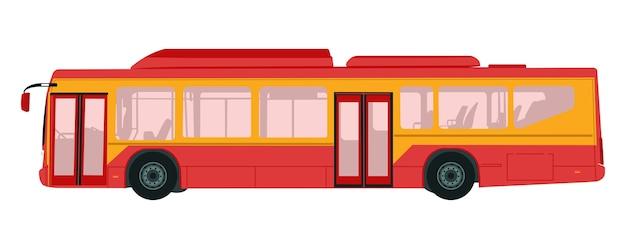 Illustrazione vettoriale di scuolabus in sfondo bianco Vettore Premium