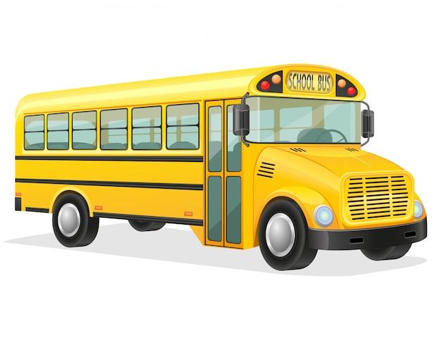Illustrazione vettoriale di scuolabus Vettore Premium