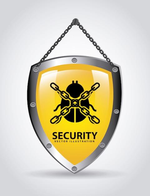 Illustrazione vettoriale di sicurezza grafica design Vettore gratuito