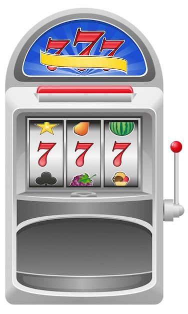 Illustrazione vettoriale di slot machine Vettore Premium