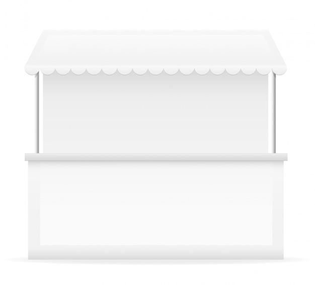 Illustrazione vettoriale di stallo bianco Vettore Premium