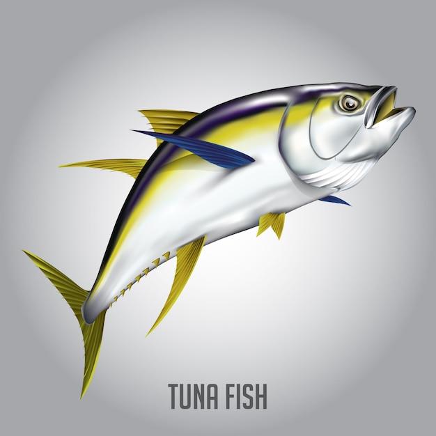Illustrazione vettoriale di tonno Vettore Premium