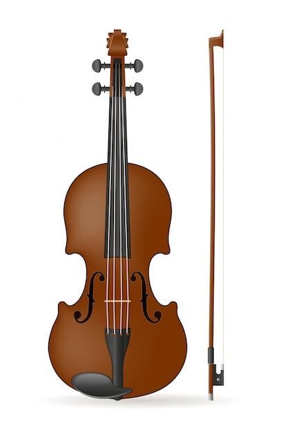 Illustrazione vettoriale di violino Vettore Premium