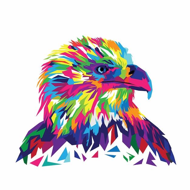 Illustrazione vettoriale eagle colorato Vettore Premium