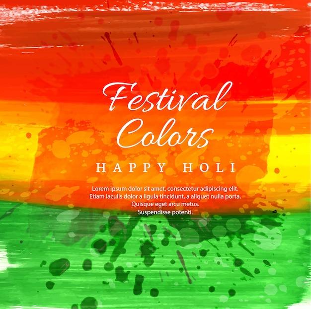 Illustrazione vettoriale felice holi con gulal colorato Vettore gratuito