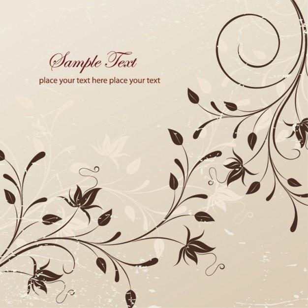 Illustrazione vettoriale floreali Vettore gratuito