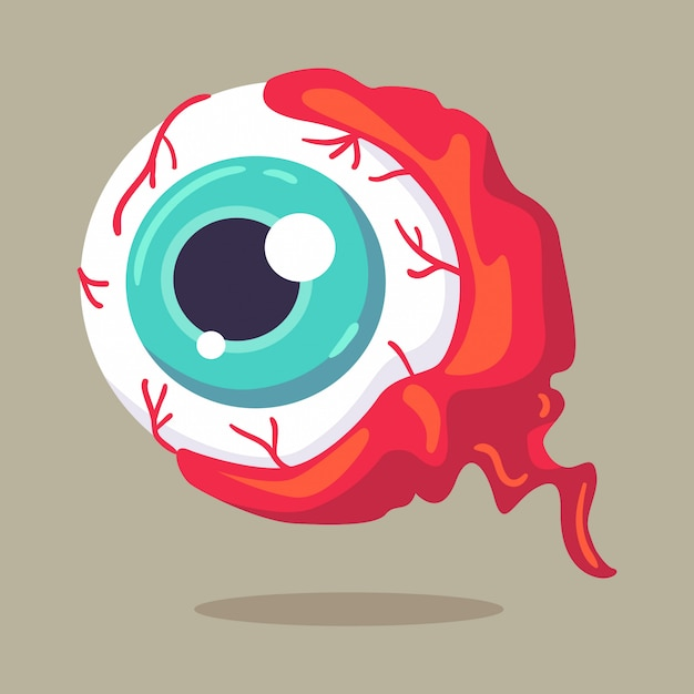 Illustrazione vettoriale halloween character monster eye Vettore Premium