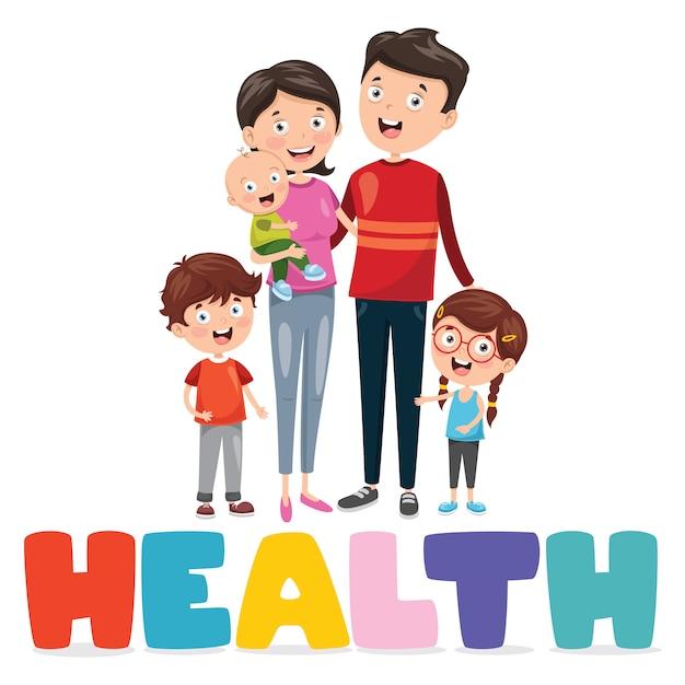 Illustrazione vettoriale medica e assistenza sanitaria Vettore Premium