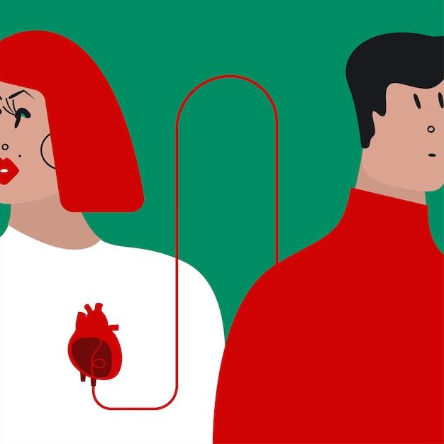 Illustrazione vettoriale trasfusione di sangue colorato Vettore gratuito