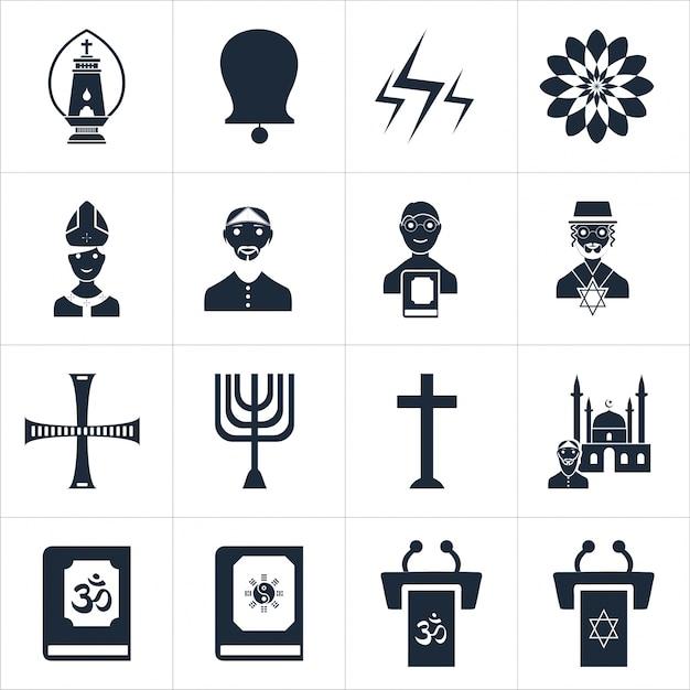 Illustrazione vettoriale vettoriale icone religiose Vettore gratuito