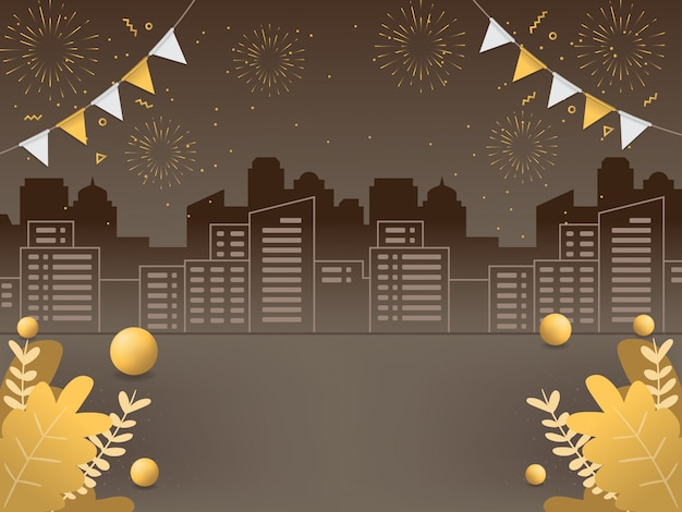 Illustrazioni di sfondo del nuovo anno Vettore Premium