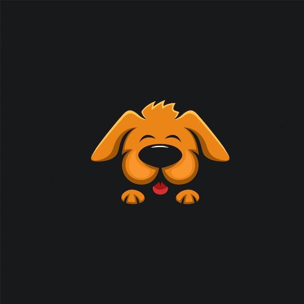 Ilustration di design cane carino Vettore Premium