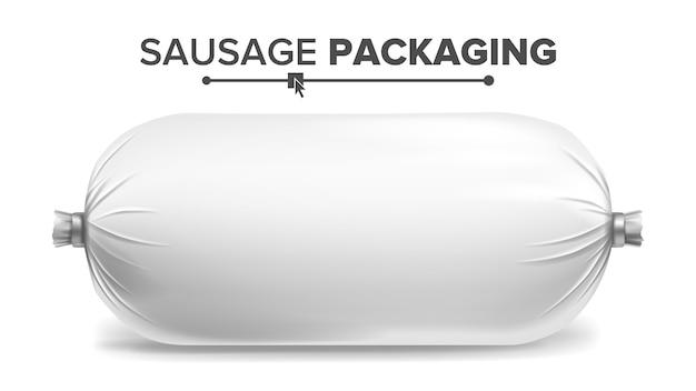 Imballaggio per la salsiccia Vettore Premium
